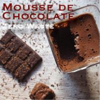 mousse de chocolate zero waste