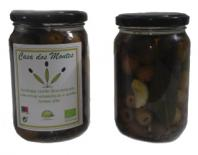 green olives seedless in oliveoil with garlic & herbs 180gr