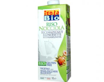rice drink with hazelnut gluten free isola bio 1L
