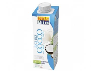 bebida de arroz com côco isola bio 250ml