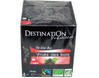 black organic tea fruit des bois destination 20x2gr