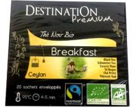 black organic tea breakfast destination 20x2gr