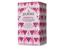 elderberry & echinacea tea pukka 20x2gr