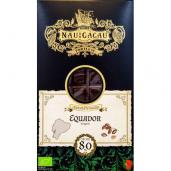 chocolate equador 80% cacau nau do cacau 80gr