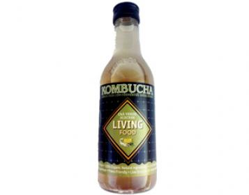 kombucha de alecrim e chá verde living food 250ml
