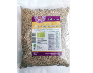 arroz basmati integral biodharma 1kg