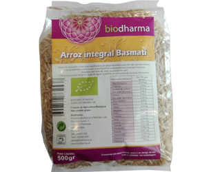 arroz basmati integral biodharma 500gr