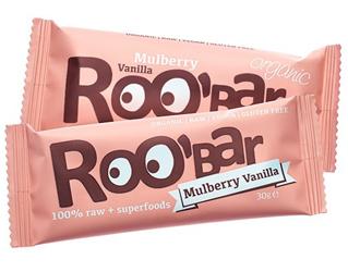 mulberry and vanilla bar gluten free roobar 30gr