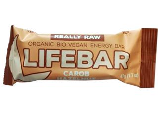 carob hazelnut bar gluten free lifebar 47gr