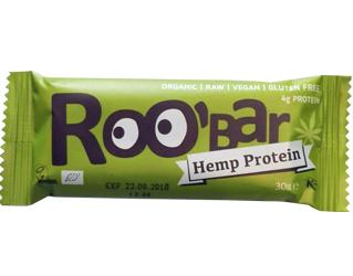hemp protein bar gluten free roobar 30g