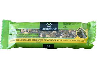 barrita sementes abóbora sem glúten naturefoods 40gr