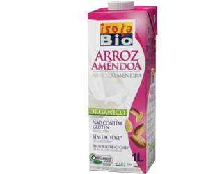 rice drink with almonds isola bio 1L