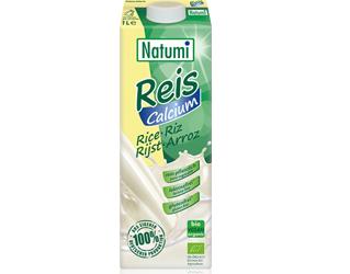bebida biológica de arroz com cálcio sem glúten natumi 1L