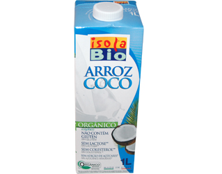 rice beverage with coconut isola bio 1L