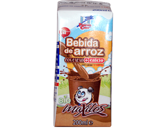 rice drink with cocoa and calcium finestra 200ml