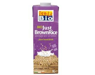 brown rice drink gluten free isola bio 1L