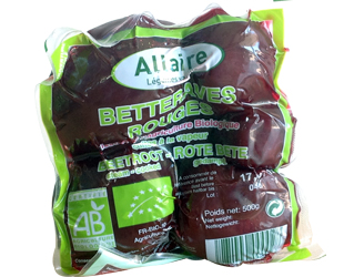 cooked vacuum beetroot allaire 500gr