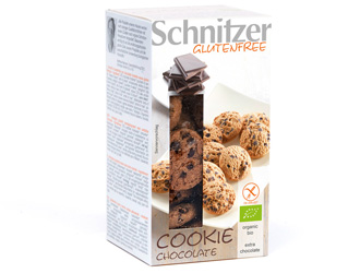 biscoitos com chocolate negro s/glúten schnitzer 150gr