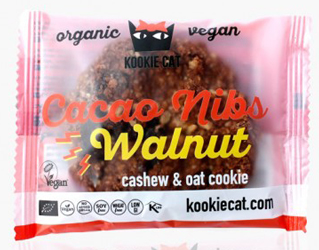 cookie cacao nibs walnut gluten free kookie cat 50g