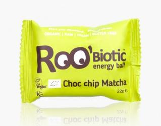 energetic ball matcha choc bar gluten free roobiotic 22g