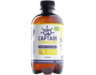 captain kombucha ginger and lemon 400ml