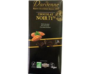 chocolate preto 71% cacau sem glúten dardenne 100gr