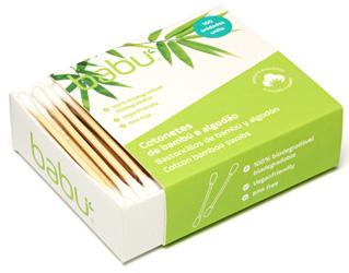 cotonetes de bambú e algodão babu 100unid