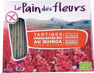 crackers de quinoa sem gluten le pain des fleurs 150gr