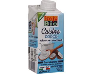 coconut cream to cook isola bio 200ml