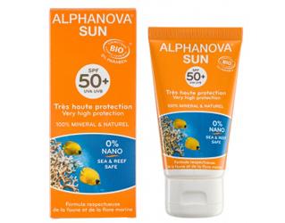 creme solar para rosto c/ cor F50+ alphanova 50g