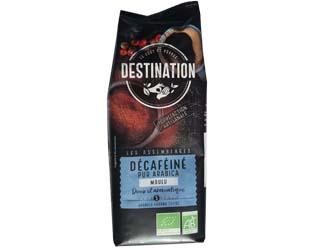 organic filter decaffeinated 100% arabica destination 250gr