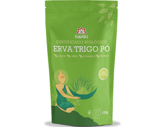 wheat grass powder gluten free iswari 125gr