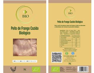 sliced cooked chicken breast ham gluten free +bio 80gr