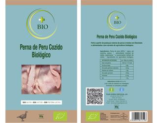 sliced cooked turkey leg ham gluten free +bio 80gr