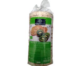 whole rice galletes gluten free naturefoods 120g