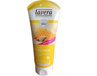 gel de banho leite de amendoa e mel lavera 200ml