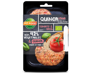 quinoa, tomato and basil burguer fit food 2x75gr