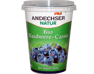 iogurte mirtilo cassis 3,7% andechser 400gr
