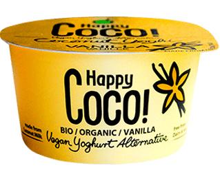 iogurte de leite de côco com baunilha happy coco 125g