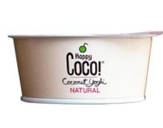 iogurte de leite de côco natural happy coco 125g