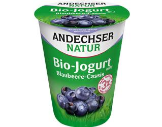 blueberry cassis yoghurt 3,7% andechser 400gr