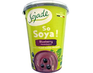 soy yoghurt with blueberrys sojade 400gr