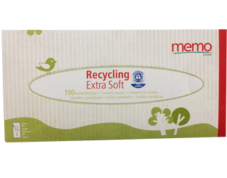 recycling paper tissues extra soft memo 100unit