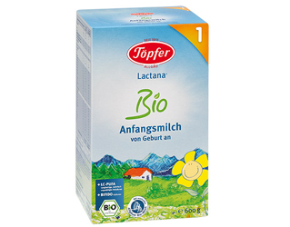 milk powder nr 1 for infants 0-6 months topfer 600gr