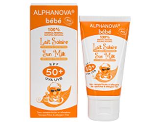 leite solar bebé F50+ alphanova 50g