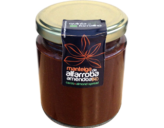 carob butter with almonds quinta da fornalha 230gr