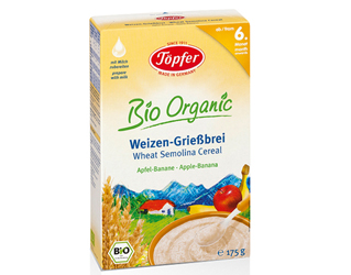 wheat semolina banana apple baby food +6 months topfer 175gr