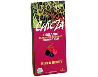 mixed berry gum 100% biodegradable chicza 15gr