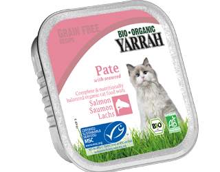salmon pate for cats yarrah 100gr