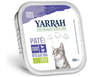 chicken and turkey pate for cats yarrah 100gr